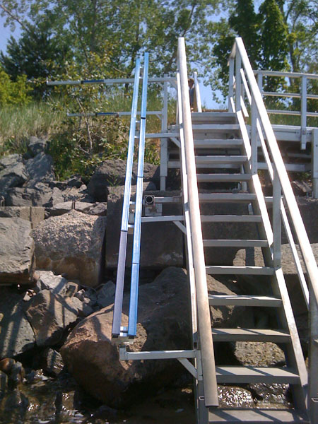 Aluminum Dock Stairs Ontario - Photos Freezer and Stair